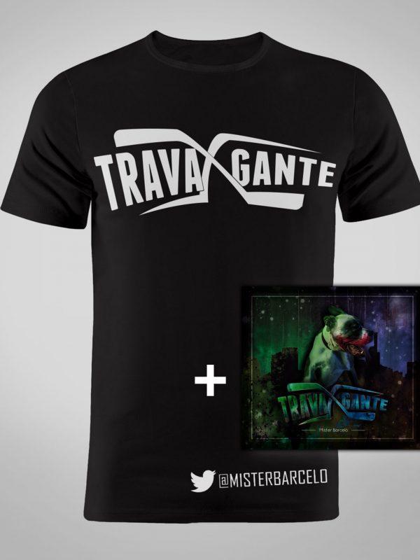 Digipack Xtravagante + Camiseta color negro